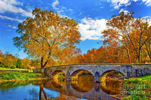 Burnside Bridge At Antietam Art Print