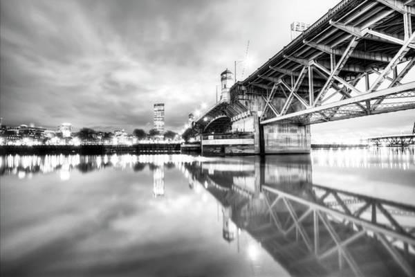 Burnside Bridge Photograph - Burnside Bridge Willamette River Portland Oregon by Dustin K Ryan