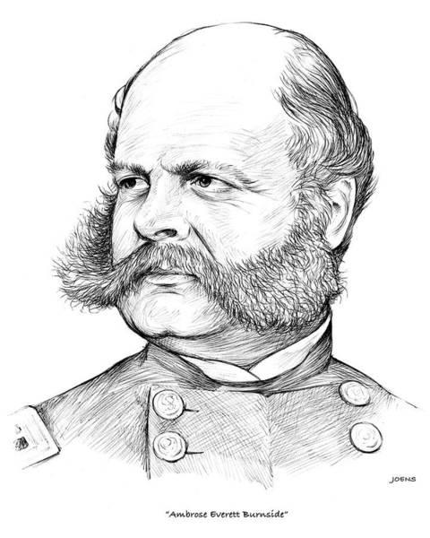 Civil War Drawing - Burnside by Greg Joens