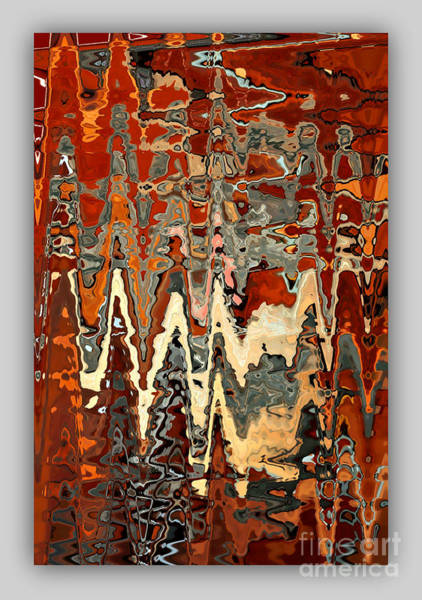 Photograph - Burnt Orange And Gray Abstract With Border by Carol Groenen