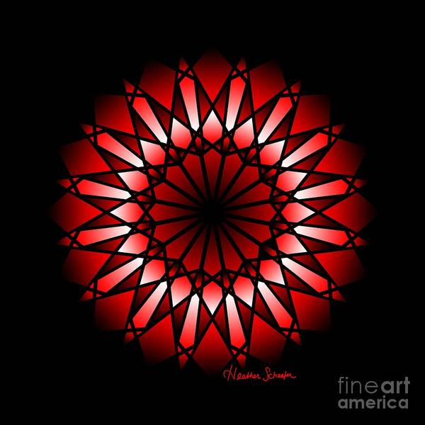 Digital Art - Burnt Umber Wonder Mandala by Heather Schaefer