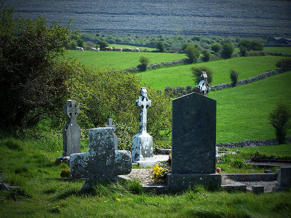 Clare Photograph - Burren Crosses County Clare Ireland by Teresa Mucha