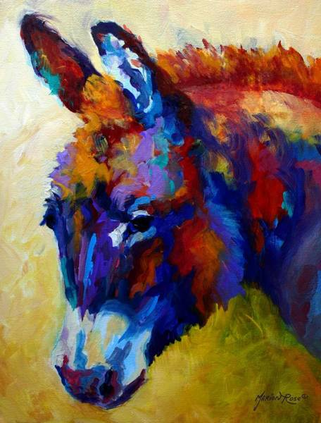 Wall Art - Painting - Burro II by Marion Rose