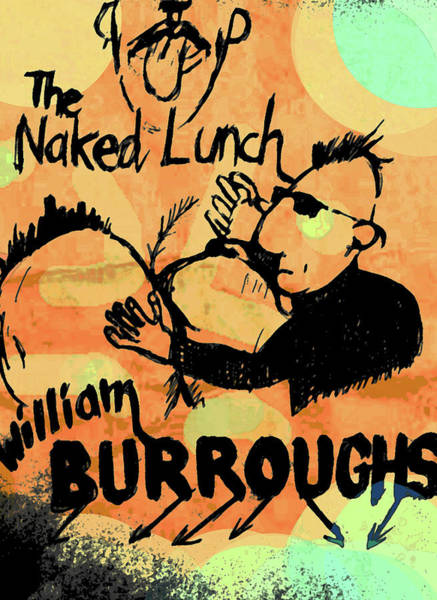 Drawing - Burroughs Naked Lunch  by Paul Sutcliffe