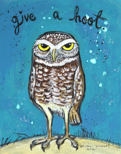 Burrowing Owl Painting - Burrowing Owl by Maria Bolton-Joubert