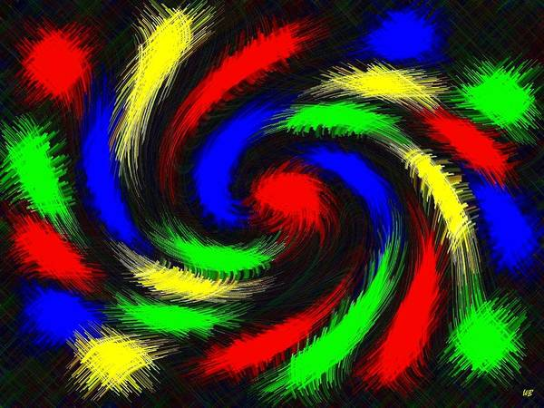 Color Burst Digital Art - Burst Of Color by Will Borden