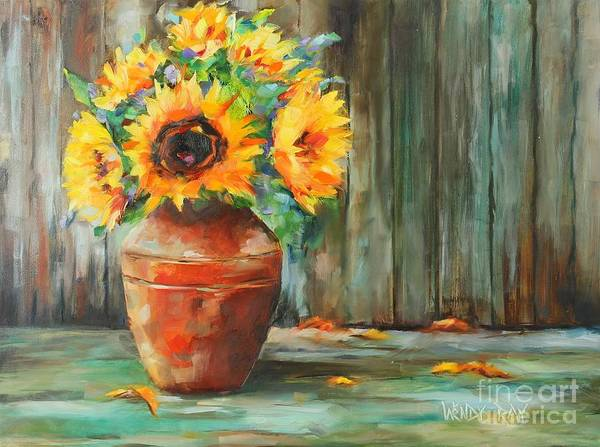 Painting - Bursts Of Sunshine by Wendy Ray