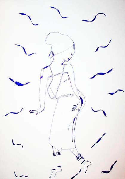 Drawing - Burundi Ishaka Dance by Gloria Ssali