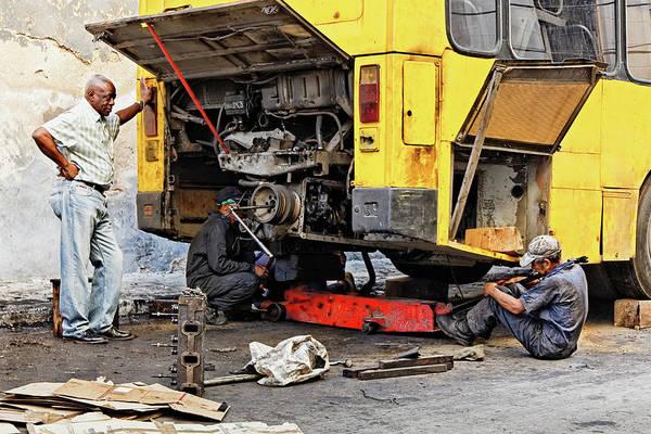 Photograph - Bus Repairs by Dawn Currie