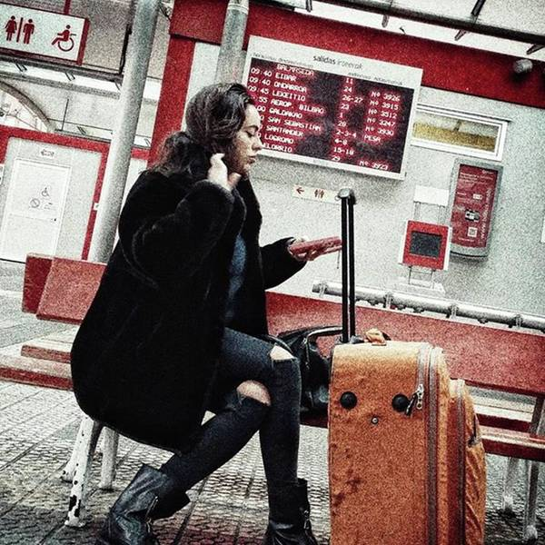 Woman Wall Art - Photograph - Bus Station Girl #streetportrait by Rafa Rivas