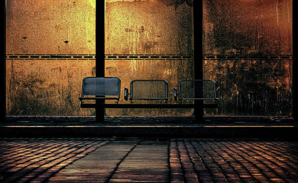 Street Racer Photograph - Bus Stop by Radon Racer