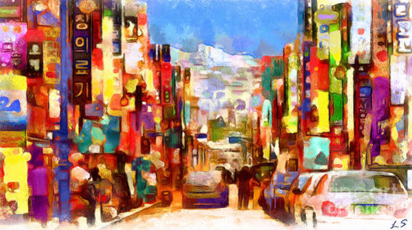 South Beach Drawing - Busan Collection - 1 by Sergey Lukashin