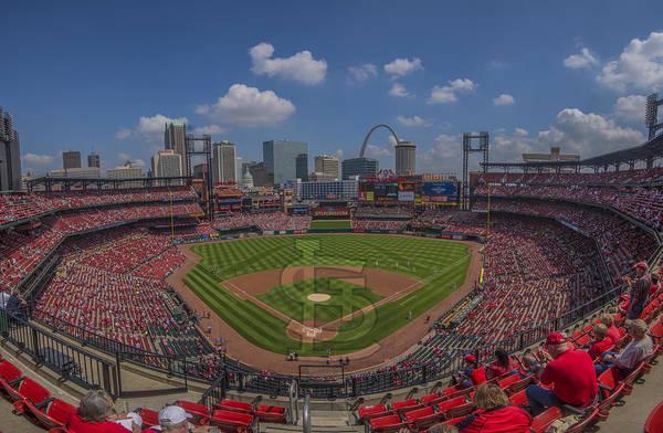 Photograph - Busch Stadium St. Louis Cardinals 11a Pano by David Haskett II