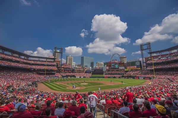 Photograph - Busch Stadium St. Louis Cardinals Ballpark Village Cardinal Nation Low #2c by David Haskett II