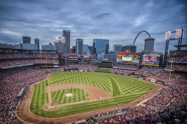 Photograph - Busch Stadium St. Louis Cardinals Cardinal Nation Ball Park Blue #2b by David Haskett II