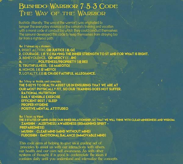 Bushido Painting - Bushido Warrior 7-5-3 Code 1b by Celestial Images