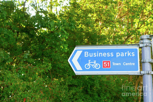 Business Cycles Wall Art - Photograph - Business Parks Sign by Tom Gowanlock