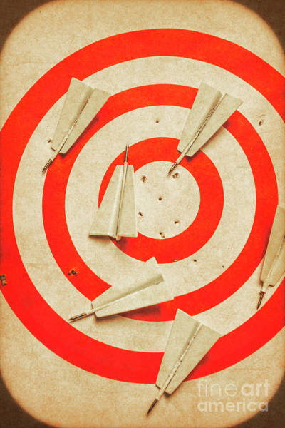Aspiration Wall Art - Photograph - Business Target Practice by Jorgo Photography - Wall Art Gallery