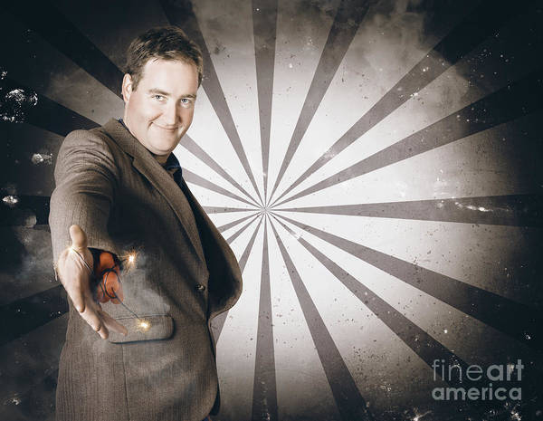 Fraud Photograph - Businessman Offering Dishonest Dynamite Handshake by Jorgo Photography - Wall Art Gallery