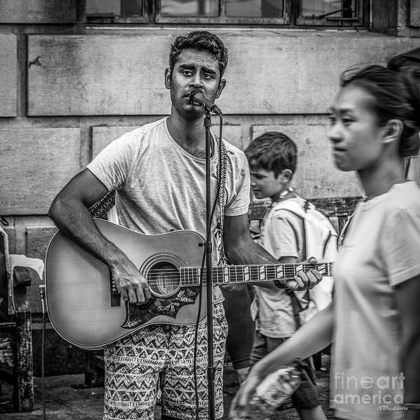 Photograph - Busking by Nigel Dudson