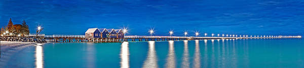 Tourist Attraction Photograph - Busselton Jetty Full Length Panorama by Az Jackson