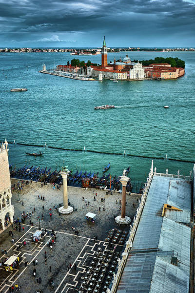 Photograph - Piazza San Marco And San Giorgio Di Maggiore From The Bell Tower In Venice, Italy by Fine Art Photography Prints By Eduardo Accorinti