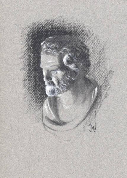 Drawing - Bust 473 by Joe Winkler