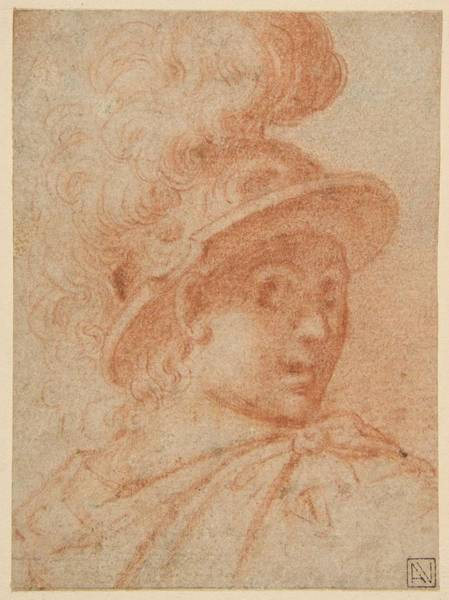 Procaccini Painting - Bust Of A Warrior Wearing A Plumed Helmet, , Camillo Procaccini by Artistic Camillo Procaccini