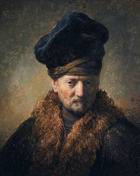 Painting - Bust Of An Old Man In A Fur Cap by Rembrandt