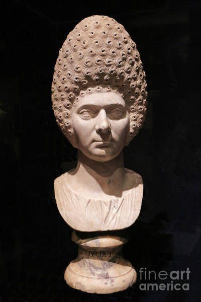 Photograph - Bust Of Ancient Roman Woman by Kevin McCarthy