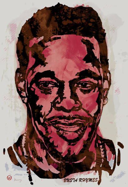 Intricate Drawing - Busta Rhymes Pop Stylised Art Sketch Poster by Kim Wang