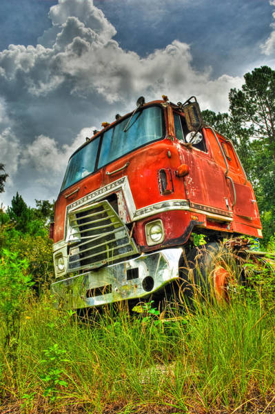 Semi Truck Photograph - Busted And Rusted by Rich Leighton