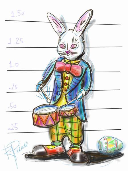 Wall Art - Digital Art - Busted Bunny by Russell Pierce