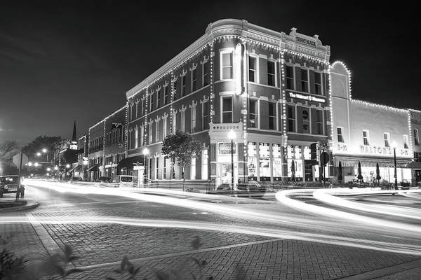 Corner Shop Wall Art - Photograph - Busy Around Bentonville In Black And White- Northwest Arkansas by Gregory Ballos