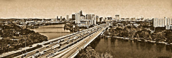 Digital Art - Busy Austin In Lithograph  by James Granberry