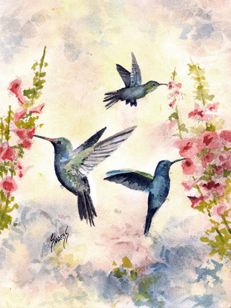 Painting - Busy Birds by Sam Sidders
