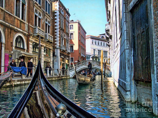 Photograph - Busy Canal In Venice by Roberta Byram