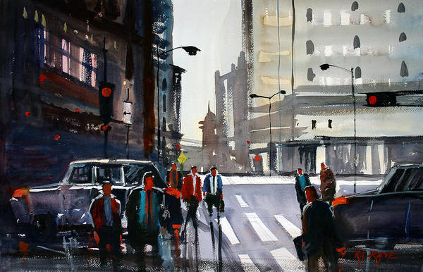Wall Art - Painting - Busy City - Chicago by Ryan Radke