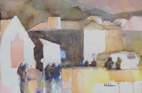Corner Painting - Busy Corner by Robert Yonke