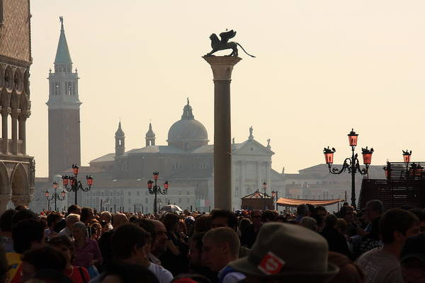 Wall Art - Photograph - Busy Day At St. Mark's Square by Michael Henderson