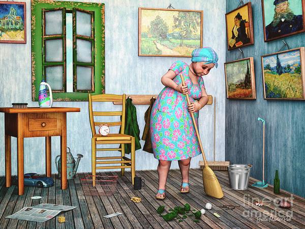 Digital Art - Busy by Jutta Maria Pusl