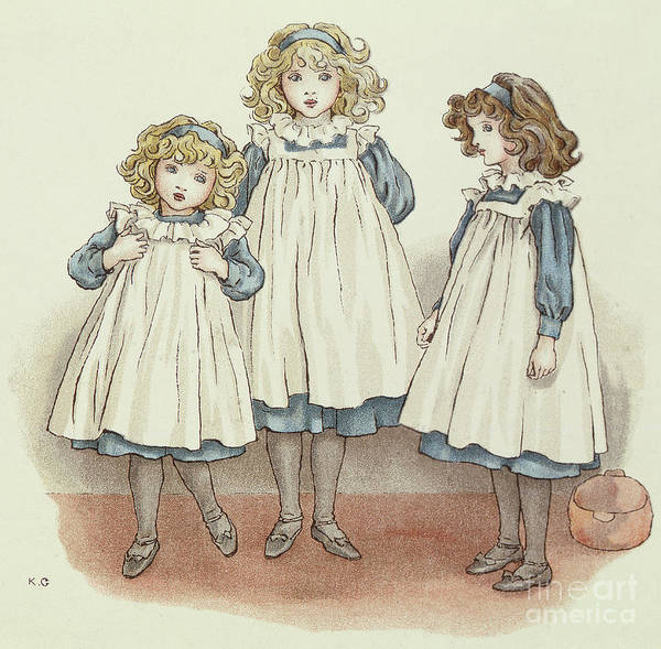 Sweet Drawing - But Flinders Foots Were Cold by Kate Greenaway