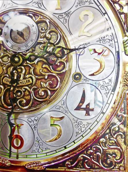 Grandfather Clock Painting - But I Can't Trace Time by Alex Johnmeyer