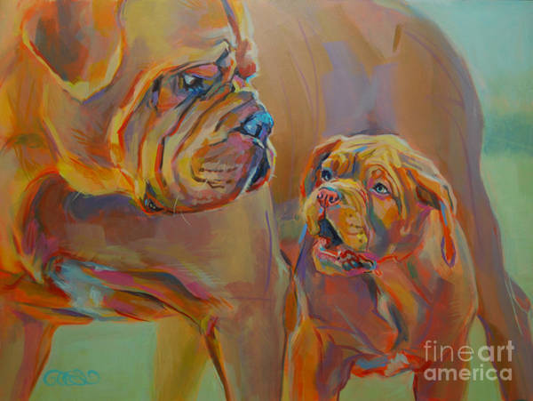 Mastiff Painting - But Mom by Kimberly Santini