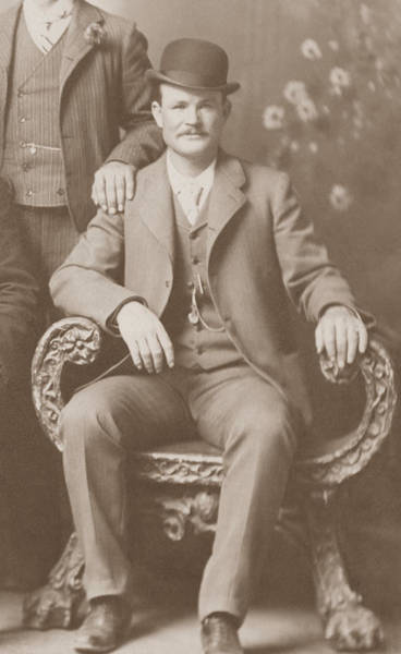 Fort Worth Photograph - Butch Cassidy - Outlaw Portrait by War Is Hell Store