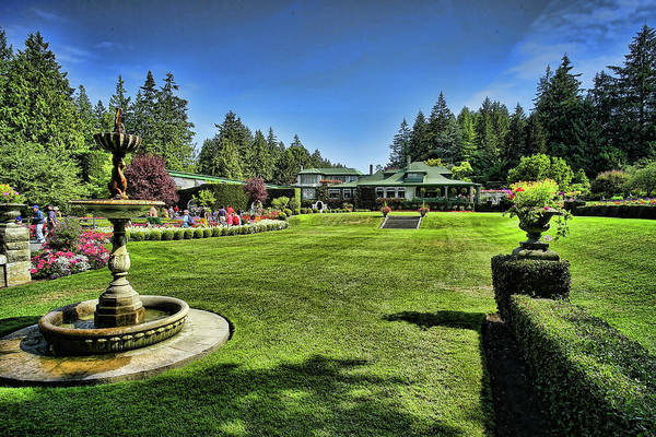 Photograph - Butchart Gardens Dining Room Restaurant II by Lawrence Christopher