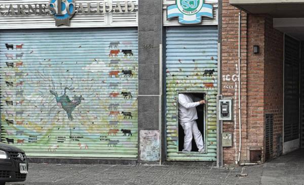 Photograph - Butcher's Shop, Buenos Aires 2014 by Chris Honeyman