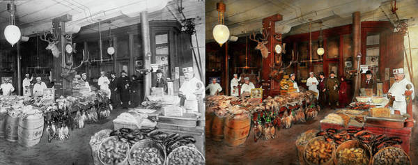 Photograph - Butcher - The Game Center 1895 - Side By Side by Mike Savad