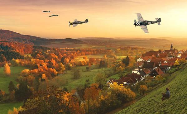 Luftwaffe Wall Art - Digital Art - Butcher Birds In Fall by Mark Donoghue