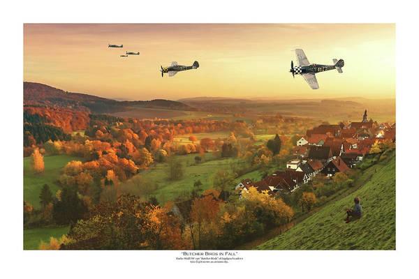 Luftwaffe Wall Art - Digital Art - Butcher Birds In Fall - Titled by Mark Donoghue